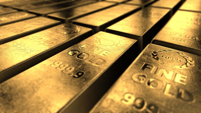 Золото подешевело из-за доходности гособлигаций США